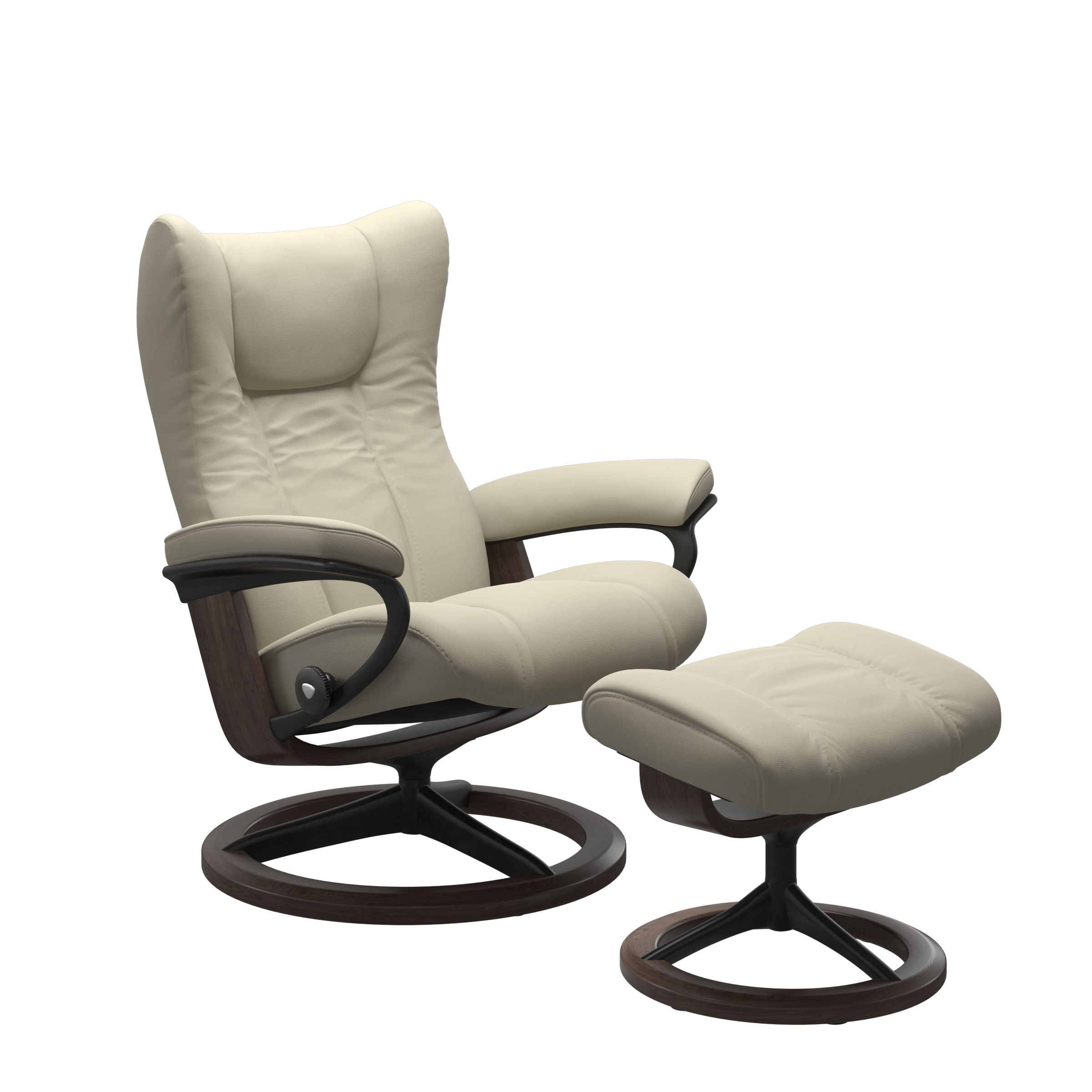 Stressless Wing L Signature Chair With Footstool Recliners