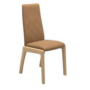 Mango ruokapöydän tuoli, korkea selkänoja, D100-jalka - Dining